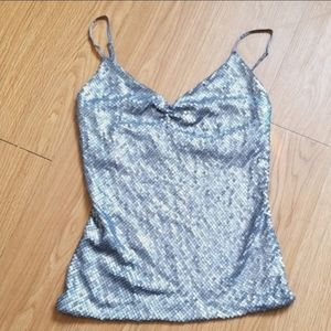 The Limited silver sequin vneck tank B30